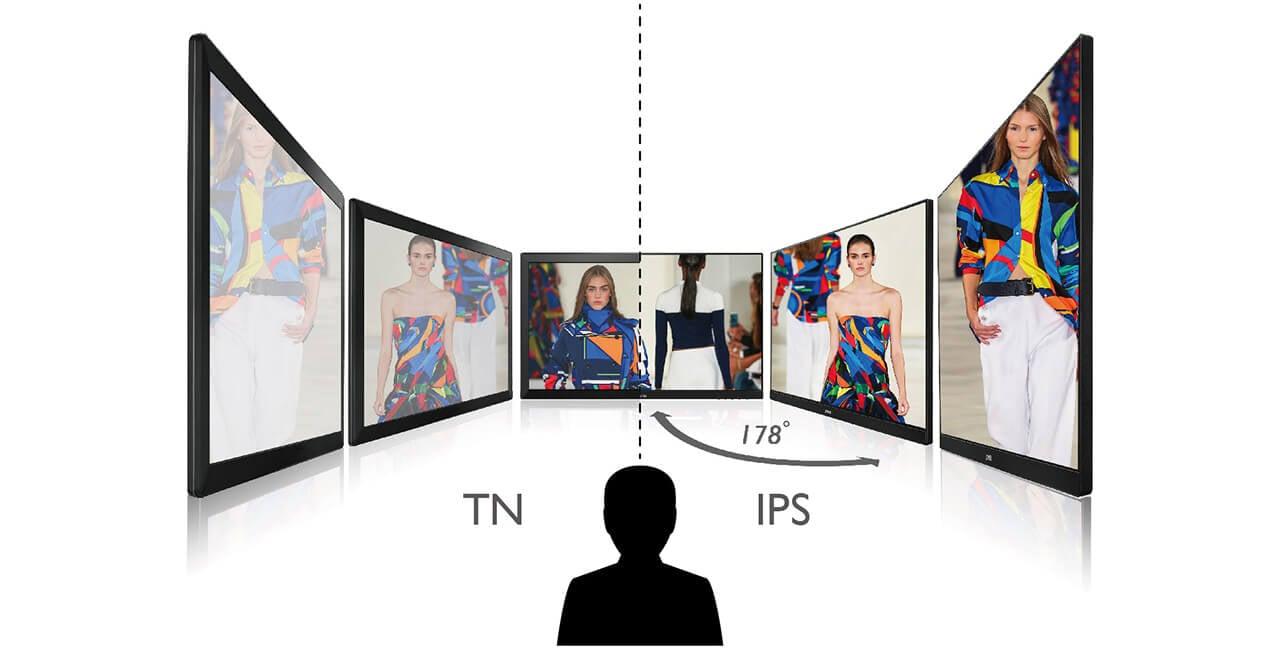تفاوت بین پنل ips و tn