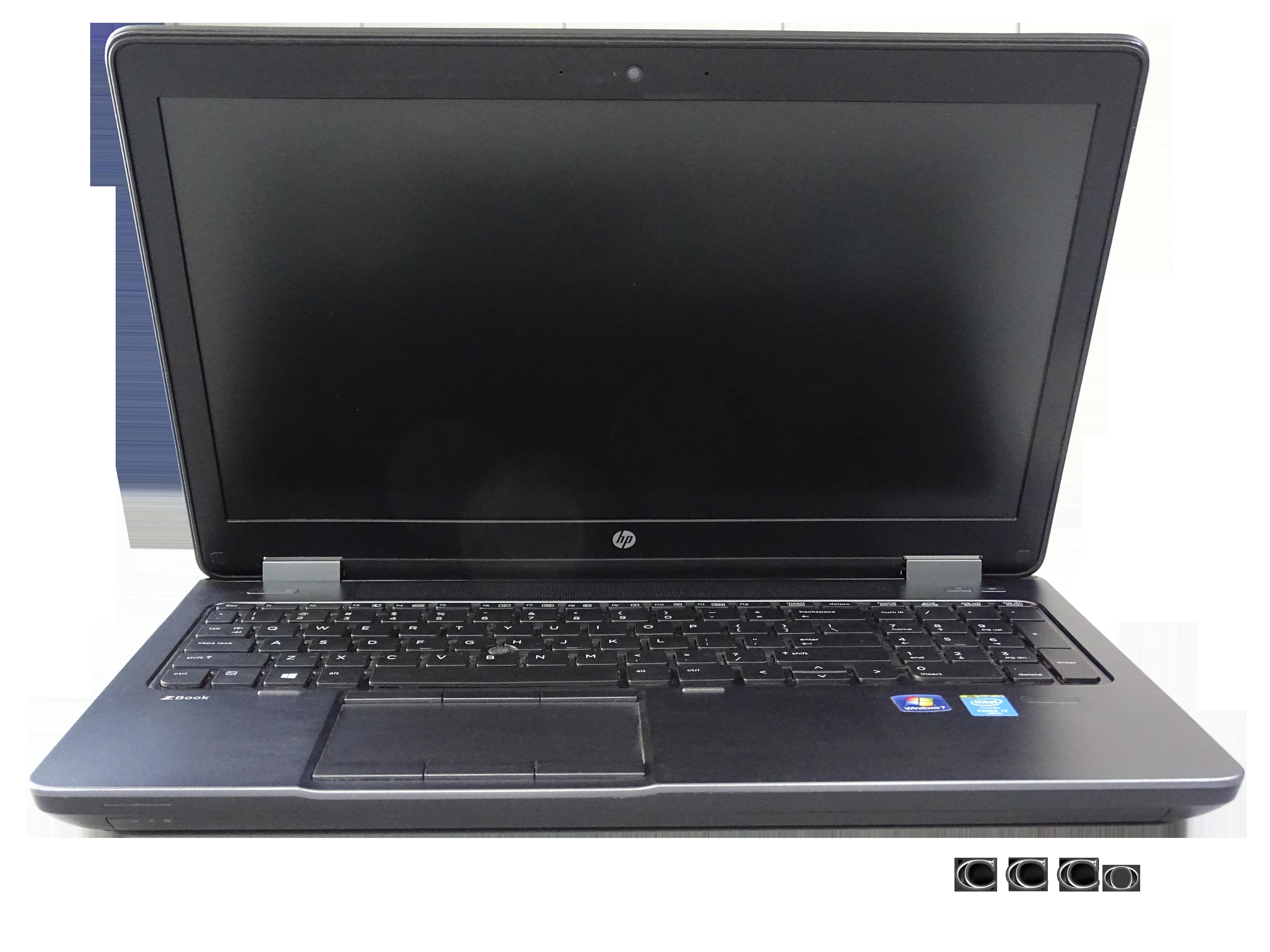 """لپ تاپ """"HP Zbook G2 15 از روبرو"""